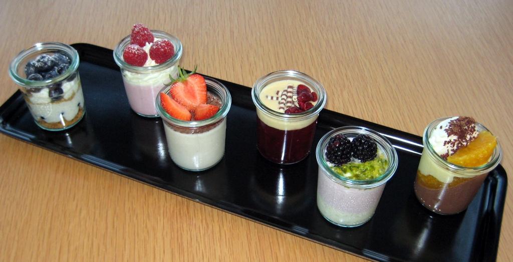 6 kleine Dessert-Kreationen