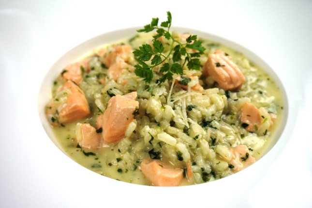 Lachs-Kerbel-Risotto