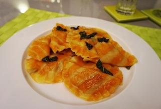 Kürbis-Ravioli