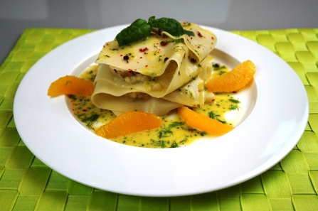 Huhn-Fenchel-Lasagne