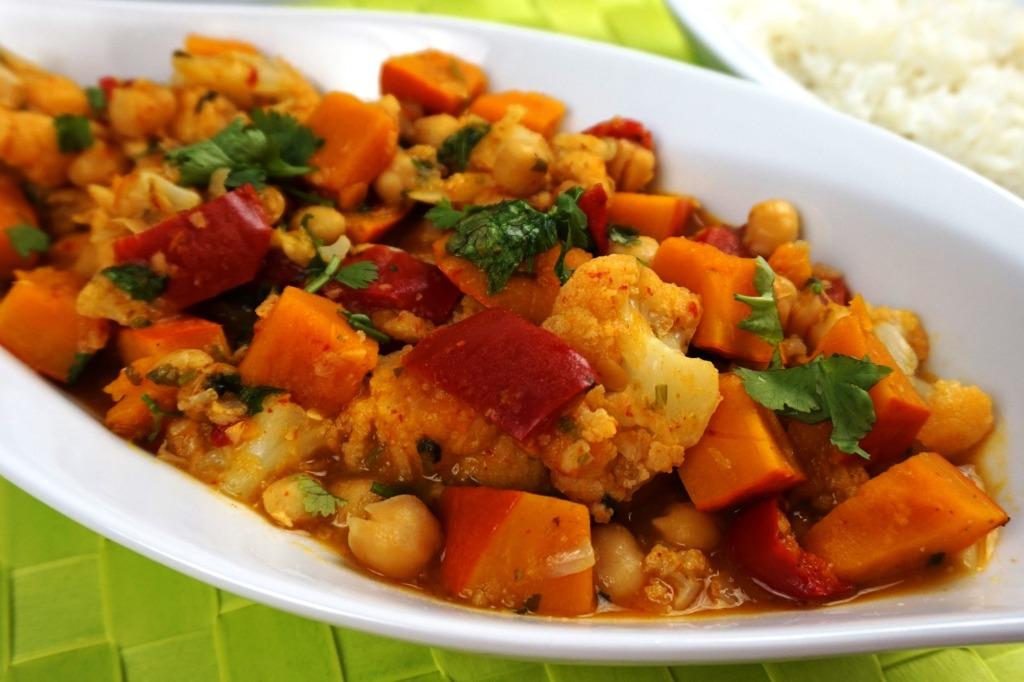 Vegetable curry cauliflower pumpkin