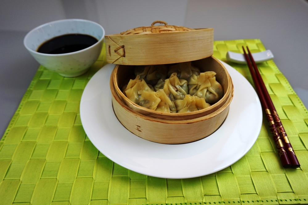 Dim Sum Prawns and vegetables