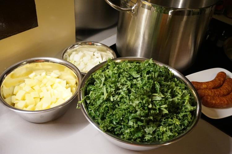 Grünkohl Curly kale cabbage