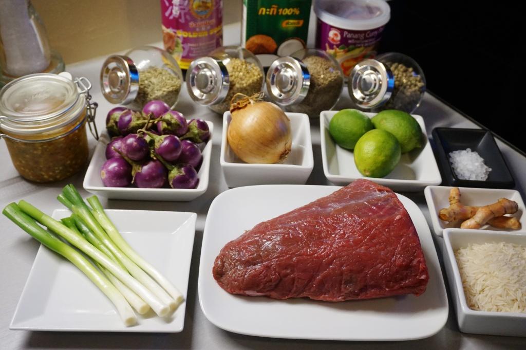 Zutaten scharfes Rindfleisch