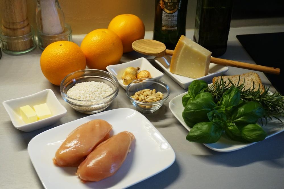 Orangenrisotto Zutaten
