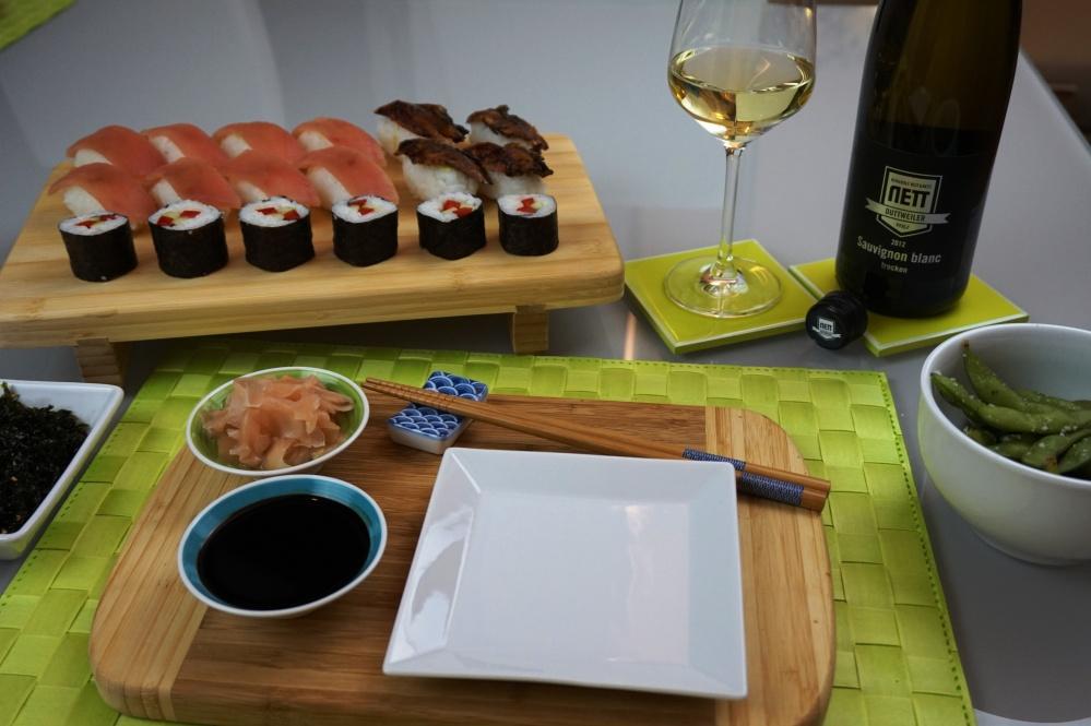 Sushi-Menu mit perfektem Sauvignon Blanc