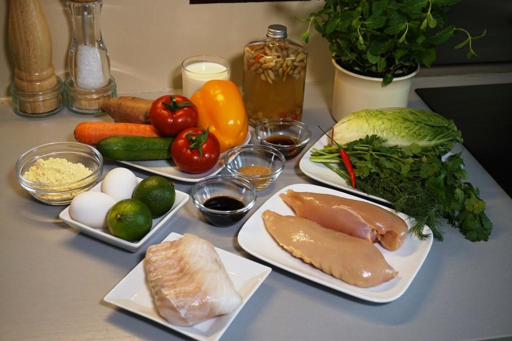 Zutaten Fischbällchen Limetten-Huhn