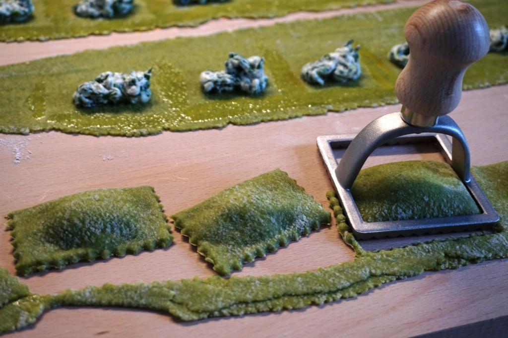 Spinach-ricotta ravioli
