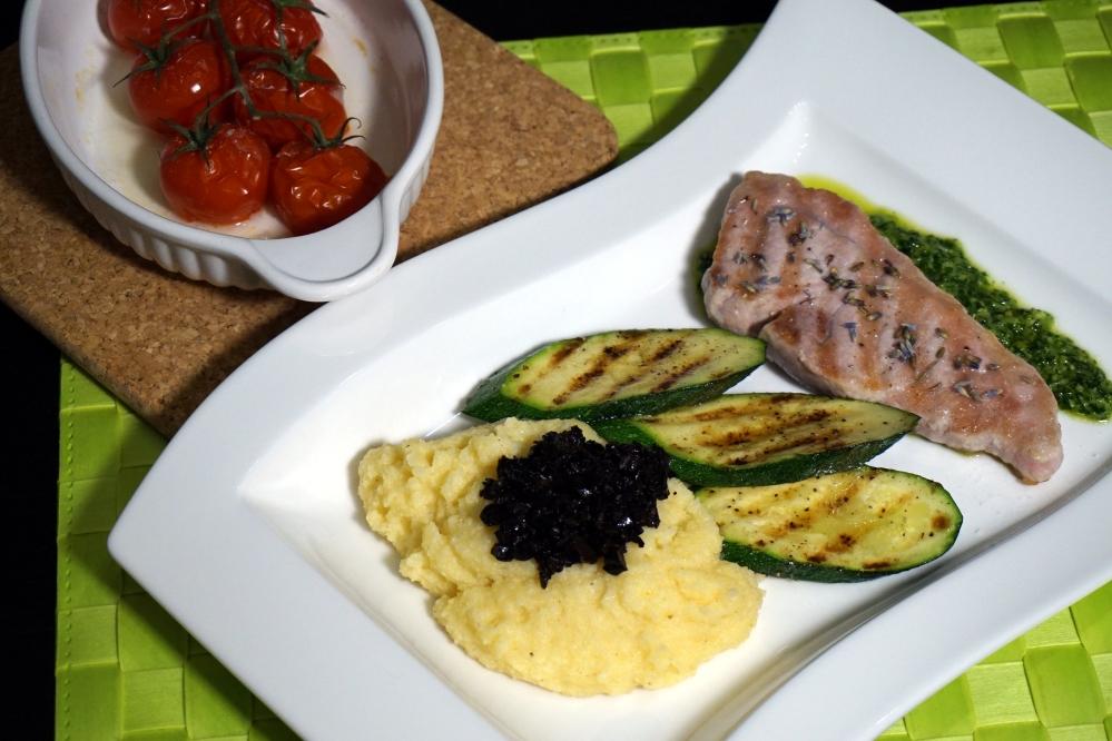 Iberico Steak mit Polenta