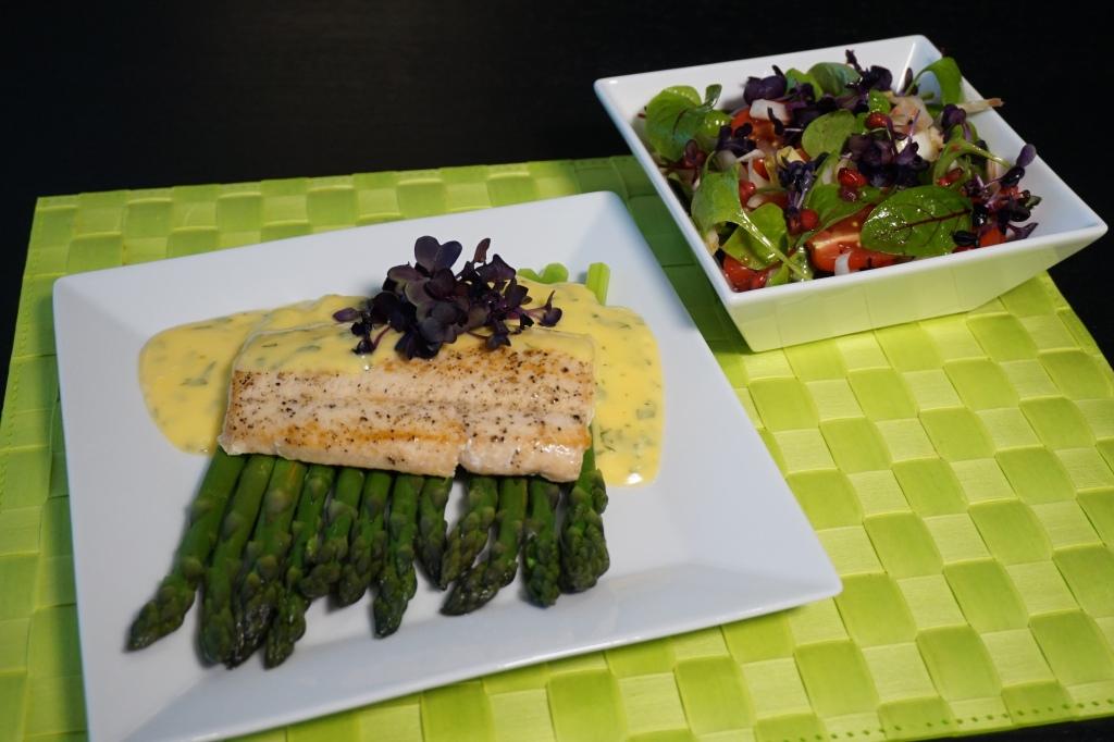 Grüner Spargel Saibling Salat 4