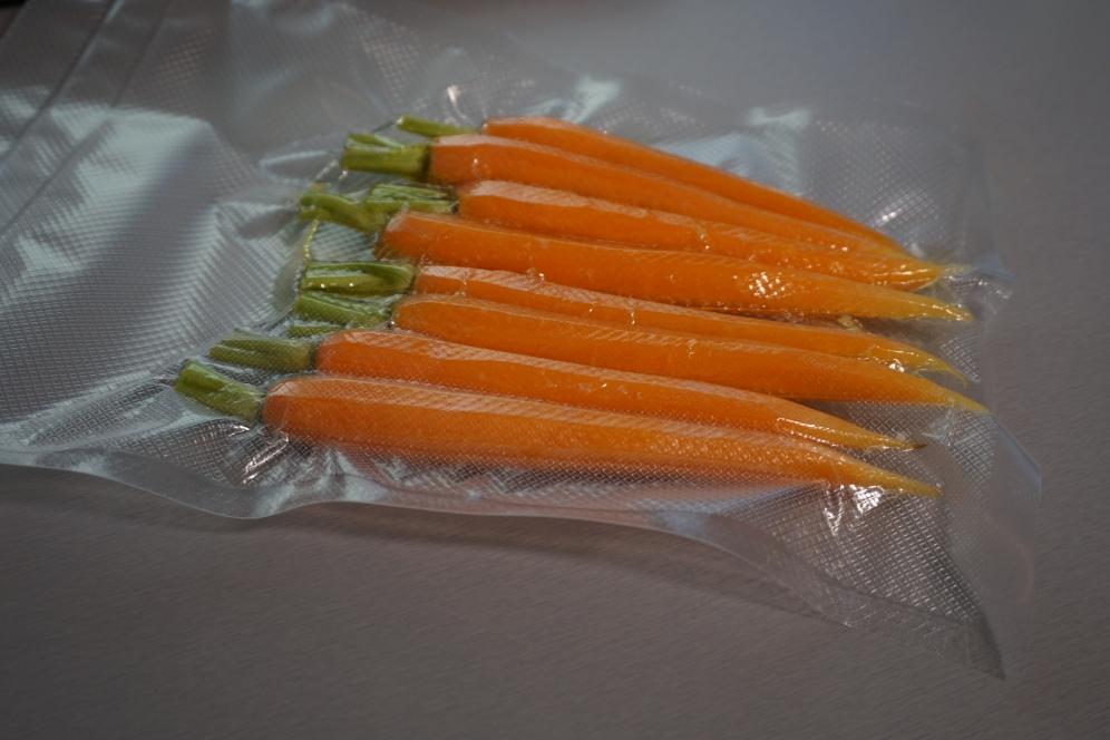vakuumierte Karotten